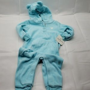 Carters baby 6 month body suit jumpsuit blue ears